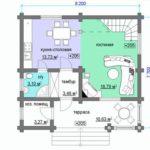 План дома 7 на 8 метров