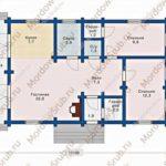 План дома 82 м2