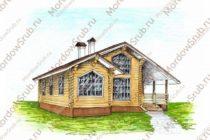 Сруб дома 106 м2 — второй вариант