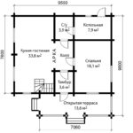 План 1 этажа дома 10 на 10 метров