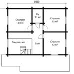 План 2 этажа дома 10 на 10 метров