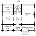 План дома 8 на 10 метров 1 этаж