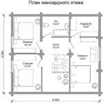 СРУБ ДОМА 166 М2 — ВТОРОЙ ВАРИАНТ