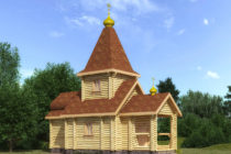 Сруб церкви 61,92 м2