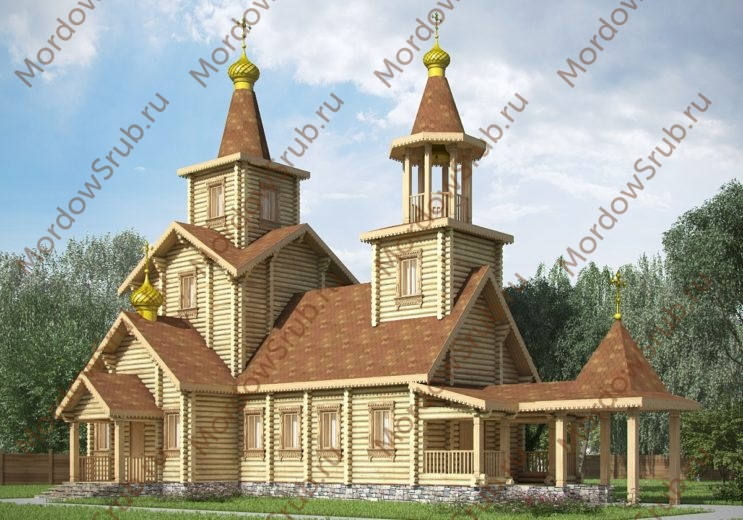 Сруб церкви 165,75 м2