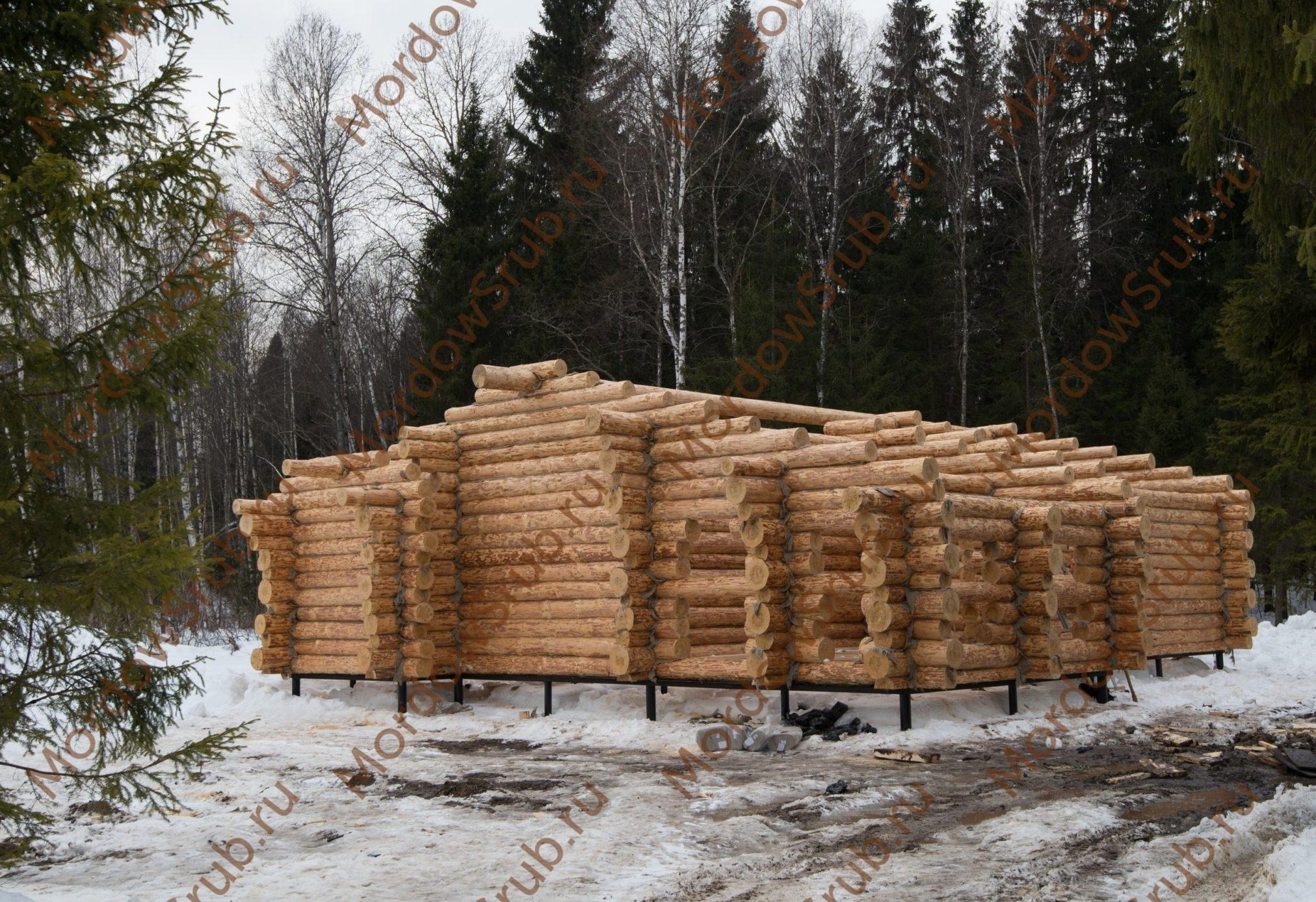 сруб в городе Дмитров Московская область дом размерами 11 на 14 метров