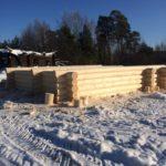 Изготовление сруба бани 6 на 8 метров
