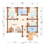 Сруб дома 80,94 метров квадратных план
