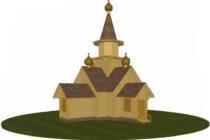 Сруб церкви 48,1 м2