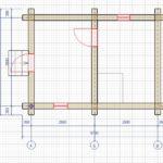 Дикий сруб бани размером 3 на 5 метров проект