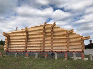 Cруб для дома размерами 13.5 на 8 метров в г. Саранск