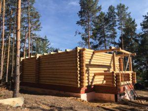 Сруб для дома размерами по осям 8 на 10 с диаметром 24 см в Пензенской области, г. Городище