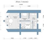 Дикий сруб дома 117 м2 проект