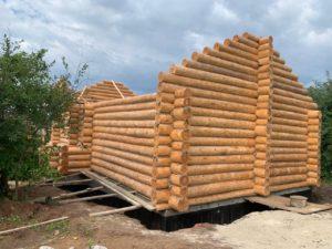 Завершили сруб бани 6.5 на 11.6 метров д. Кузнецово