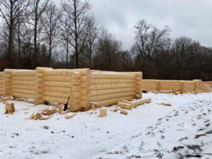 сруб дома 7.5 на 9 метров в Наро-Фоминск