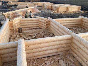 Завершили сруб дома 8 на 9 метров в д. Житово